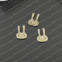 (J-M400)Alloy Findings,charm pendants,Antiqued style bronze tone 11*8MM Rabbit 50PCS