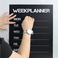 31x45cm Free Shipping Week Plan Memo Note Blackboard Chalkboard Wall Sticker Vinyl Art Removable Peel And Stick Home Decal F006