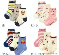 Free shipping ( 12 pairs/lot ) Baby cartoon cotton striped socks Alphabet slip-resistant floor socks 0061
