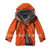 New brand 2layers Children winter ski snowboard sport down jacket/kids hoodie casual coat,windproof and waterproof jacket