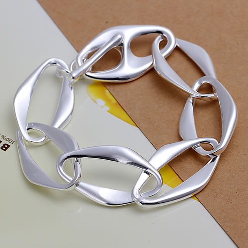 Fashion Jewelry Free Shipping Wholesale 925 silver bracelet, 925 silver fashion jewelry Banana Bracelet H211(China (Mainland))