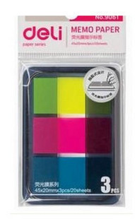 Lackadaisical 9061 neon film labels memo pad arrow classification(China (Mainland))