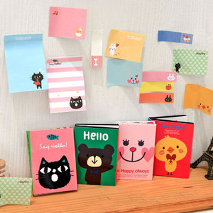 Wholesale Retail Free Shipping fashion stationery small animal n times stickers sticky notes -A17(China (Mainland))