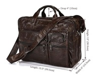 2014 new Brand New Real Vintage Leather Men's Business Laptop Bag Briefcase Messenger Bag Handbag FREE SHIP #6057J