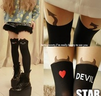 2 HARAJUKU over-the-knee patchwork stockings cat little demon of gaotong pantyhose