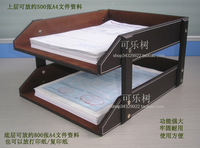 Leather file holder table a4 data rack desktop storage basket commercial supplies a230