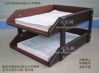 Leather file holder table a4 data rack desktop storage basket commercial supplies a230
