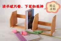 Bamboo bookshelf table bookend storage rack storage rack solid wood