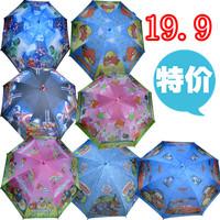 New arrival Cartoon child umbrella automatic long-handled umbrella sun protection umbrella 19 chromophous