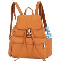 Preppy style casual backpack school bag gentlewomen bag PU travel bag
