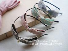wholesale white headband bow