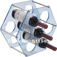 7 holes modern Ron Arad designed  Acrylic infinity bottle wine rack.