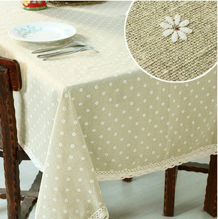 "222#  square 140cm/55"" little flower hot sale table cloth tablecloth mat  cover  cotton&linen lace letter freeshipping wholesale"