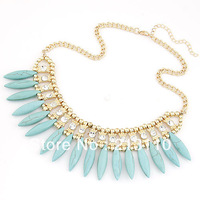 2014  New Arrival Fashion Ocean Style Gold Chocker Neckace Jewelry High Quality Free Shipping