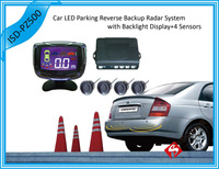 12V 3.5 Inch Car LCD Display Parking Reverse Backup Radar System 4 Sensors 6 Colors Free Shipping