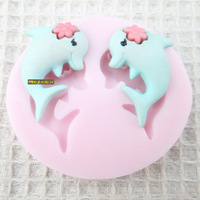 New!Mini 3D dolphin  silicone fondant mould/ Handmade sugar crafts DIY mold/Cake Decoration/chocolate/soap mould