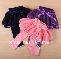 Free shipping Children's Summer tutu layered dress trousers princess leggings, fahison girl culottes pantskirt 4pcs/lot