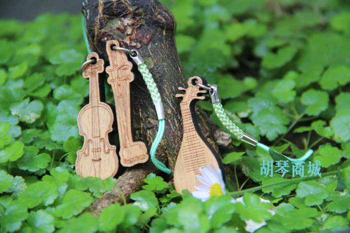 Wool mini musical instrument mobile phone chain keychain bags pendant erhu Pipa violin(China (Mainland))