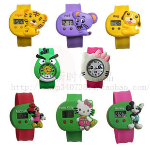 Child day gift ring pops electronic watch waterproof child watch table(China (Mainland))