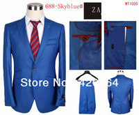 Free Shipping Wool and Cotton Men Name Brand Formal Dress Designer Suits Fashionable One Button Business Suits S-4XL
