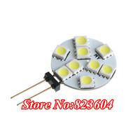 Cheap G4 5050 SMD 9 LED Light Warm White Home Car Marine Bulb Car Lights Lamps