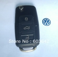 NEW UNCUT VW VOLKSWAGEN FLIP KEY REMOTE VW 3 Button Remote 1J0 959 753 P 433Mhz