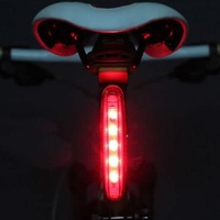 2013 Cycling Bike Bicycle Super Bright Red 5 LED Rear Tail Light 8 modes Lamp