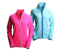 Outdoor Women KARI TRAA Fleece Jacket, Lady Warm Coat Clothes Black Purple Pink White Blue
