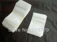 10x6cm Clear+white retail plastic zipper package bag,Jewelry is small adorn article pack bag pp poly gift packing