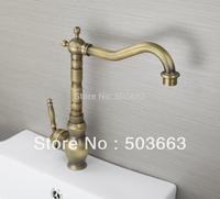Classic 1 Handle Antique brass Finish Kitchen Sink Swivel Faucet Mixer Taps Vanity Brass Faucet L-9021 Mixer Tap Faucet