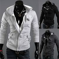 HOT SLAE!!!2013 new arrival autumn with a hood cardigan casual napping outerwear for man M L XL XXL 3 colors FREESHIPPING