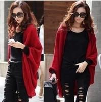 2014 New Fashion Spring Womens Girls THIN medium-long Sleeveless Cardigan Cape Loose Sweater Outerwear Wraps Knit Blouse Jackets