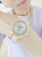 Ceramic white with diamond fine watches