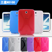 X Design TPU Rubber Gel silica gel Cover Case for N5100 for Samsung Galaxy Note 8.0 inch tablet PC N5100 N5110