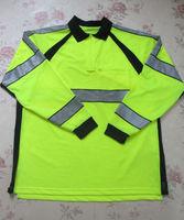 Blauer Hi Vis Sportswear Reflective Safety POLO Shirt Long Sleeve