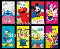 New Design Summer cartoon Stitch SpongeBob Winnie mickey leather case + back case for Ipad mini1/2
