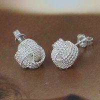 E013 Wholesale 925 silver earrings, 925 silver fashion jewelry, Tennis Earrings /asmajjtasb