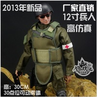 Free shipping new 2013 Toy Soldier, Non-toxic ABS resinl, 30CM movable multi-joint military model, medic NB04