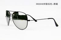High Quality New Star 2014 Fashion Sunglasses For Men Women Vintage Brand Designer Aviator Retro Driver Reflective Lens R 3025