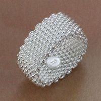 R040 Size:6,7,8,9,10 Wholesale 925 silver ring, 925 silver fashion jewelry, Web Ring /bddajukasl