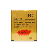 Gold Battery EB-L1G6LLU For Samsung siii s3 /i9300 By DHL High Capacity Bussiness Battery 3200mAh