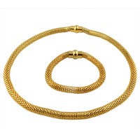 gold necklace set african jewelry set  gold chain for men stainless steel jewelry
