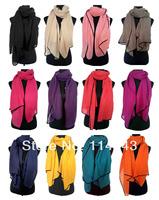 Fashion Solid Plain Color Twill Scarf Shawl Wrap Black Border Women's Accessories Hijab, Free Shipping
