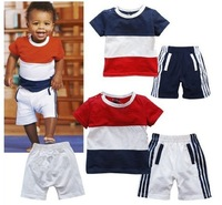 baby boys suit kids children 2 pc set short sleeve t shirt + pants girls set 0618 sylvia it