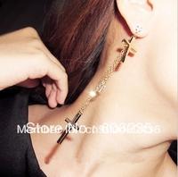 Wholesale Trendy Cross Earrings Long Jewelry FREE SHIPPING
