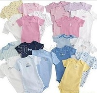 Free Shipping wholesale baby clothing 5pc/lot 2014 Boy&Girl's Short Sleeve/Carter's Bodysuit Infant baby bodysuit