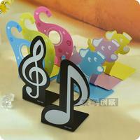 Piano mini music book file chalybeate small book file fashion cartoon animal bookend