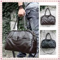 Large Leather Men's Duffle Sports Shoulder GYM Schoolbag Bag