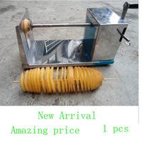 Hotsale 1pcs new manual Tornado potato machine, potato spiral cutting machine,potato cutter machine /potato chips machine