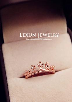 Бесплатная доставка / оптовая Циркон кольцо кроны , высокое качество кольцо , ювелирные изделия , оптовые ювелирные изделия, женщина, противоаллергическое